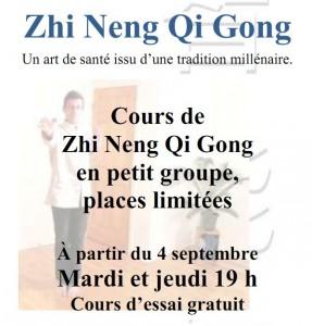 Cours Zhi Neng Qi Gong